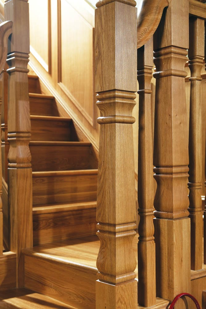 ... George Quinn Square Turned Staircase Design Concra Collection  Concra  Long Square Newel Post C9n02