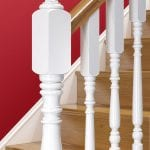 Staircase Newel Post Painted - Exclusive Corby - George Quinn Stair Parts