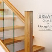 Glass-Stairs-Closeup-with-Oak-George-Quinn-Stair-Parts-Urbana