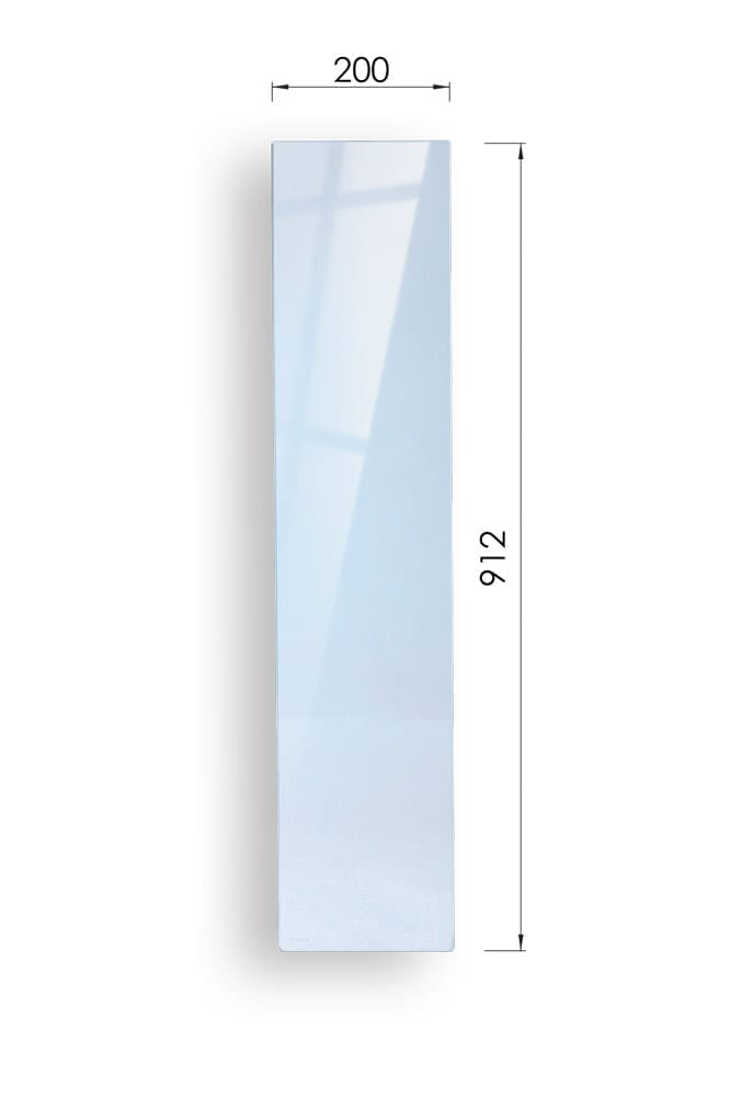 Glass Stairs Landing Panel with Dimensions - 912mm x 200mm- George Quinn Stair Parts - Urbana