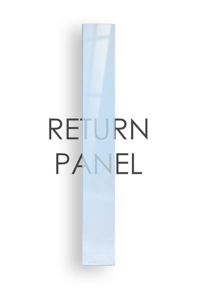 Glass Stairs Return Panel - George Quinn Stair Parts - Urbana