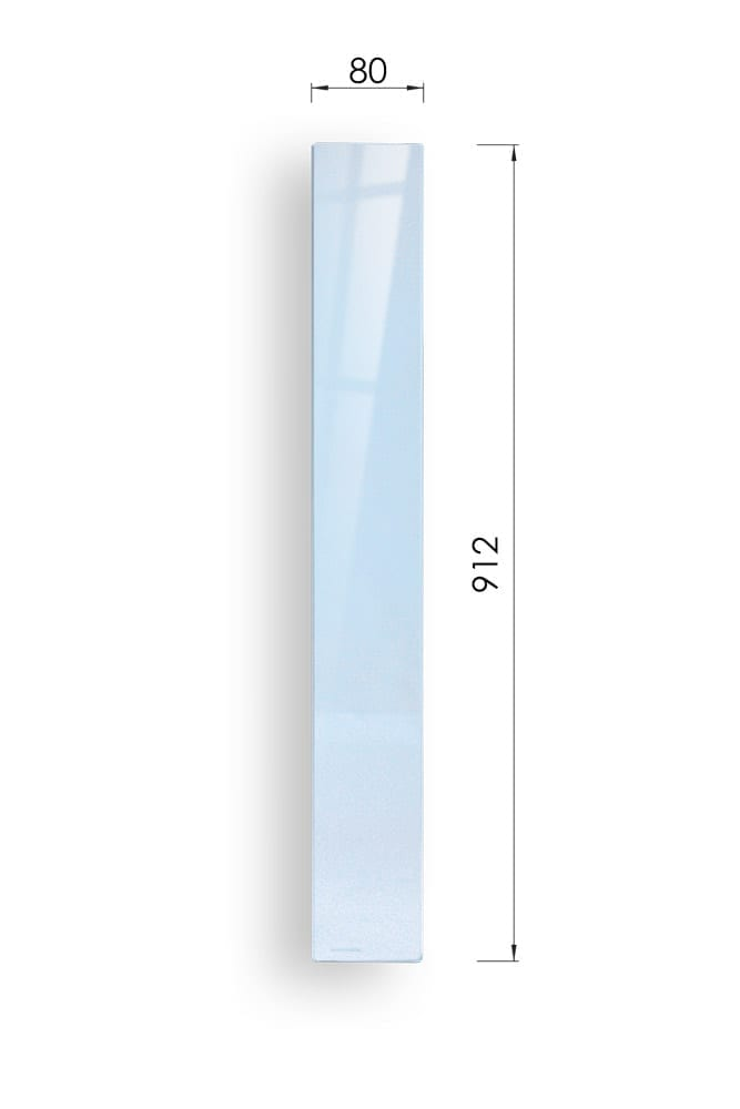 Glass Stairs Return Panel with Dimensions - 912mm x 80mm - George Quinn Stair Parts - Urbana