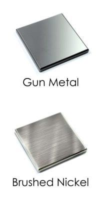 Metal Newel Caps - Gun Metal and Brushed Nickel Material - George Quinn Stair Parts - Urbana