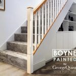 Stop Chamfered Stair Parts - Paint and Oak - Boyne - George Quinn Stair Parts Plus