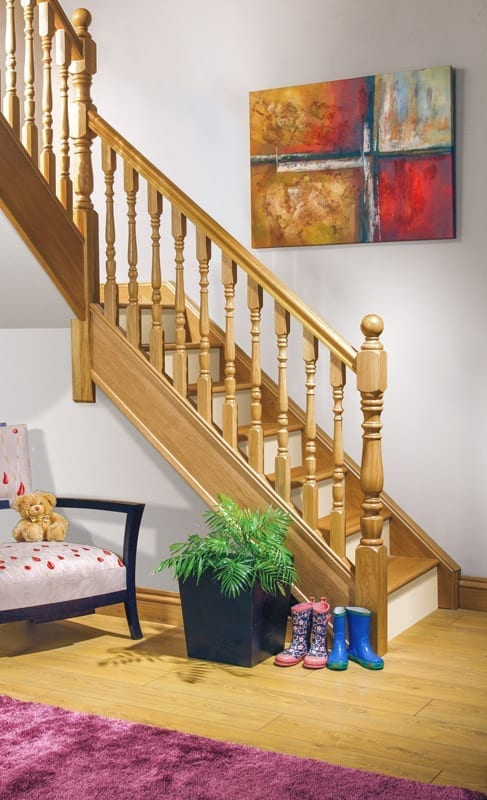 Staircase Newel Post Oak - Exclusive Corby - George Quinn Stair Parts