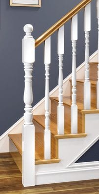 Traditional Staircase Parts - Exclusive Corby - George Quinn Stair Parts Plus