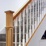 Modern Staircase Parts - Achill and Box Newel Closeup- George Quinn Stair Parts Plus