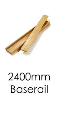Stairs Baserail - 2400x57x69mm -George Quinn Stair Parts Plus