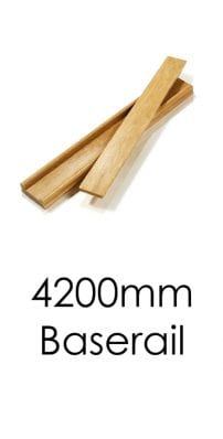 Stairs Baserail - 4200x57x69mm -George Quinn Stair Parts Plus