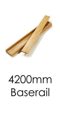 Stairs Baserail - 4200x57x69mm -George Quinn Stair Parts Plus