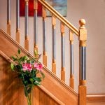 Modern Stair Parts - Erne Spindles oak and steel - George Quinn Stair Parts Plus