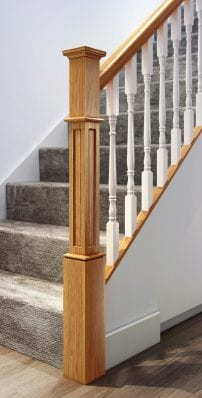 Modern Staircase Parts - Box Newel - George Quinn Stair Parts Plus