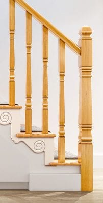 Stair Parts - Square Turned Concra - George Quinn Stair Parts Plus
