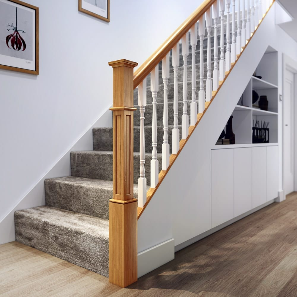 Beautiful Interior Staircase Ideas And Newel Post Designs: Achill Long Square Newel Post