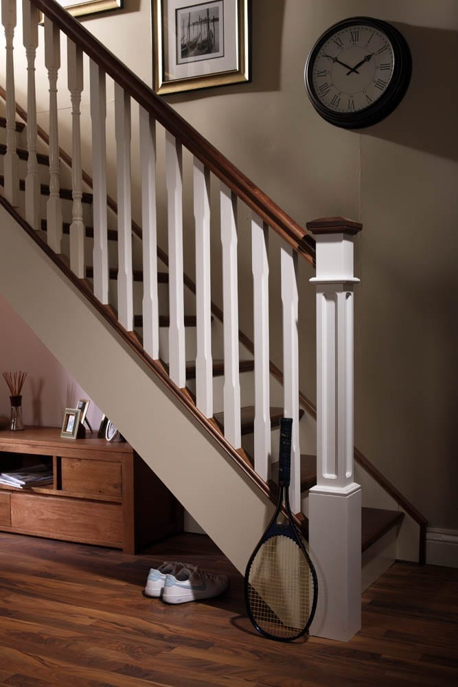 Image of Handrail used in a Stop chamfered staircase design - George Quinn Stair Parts Plus