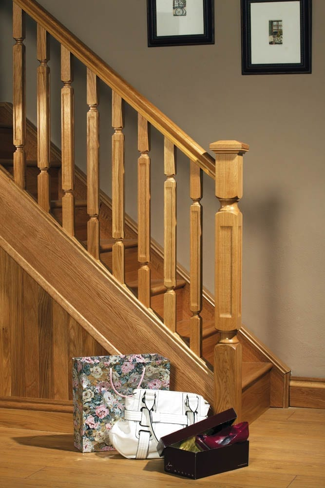 Image of Handrail used in a Modern, Oriel staircase design - George Quinn stair parts plus