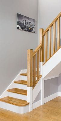 Square Stair Parts - Oak and paint - George Quinn Stair Parts Plus