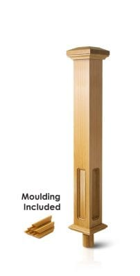 Stair Parts - Box Newel -Double Square - George Quinn Stair Parts Plus