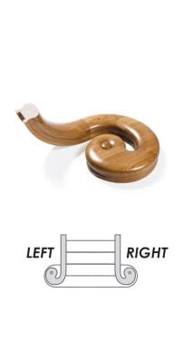 Scroll and Easer Handrail - George Quinn Stair Parts Plus