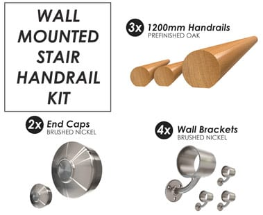 Wall Mounted Stair Handrail Kit